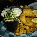 Greasy mushy fish & chips. Kilkenny's Irish Public House, Traverse City, Michigan.