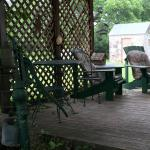 Porch for morning coffee