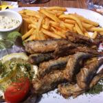 Sardines grillées frites