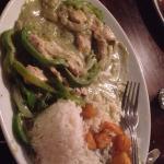 Thai green chicken n garlic fries