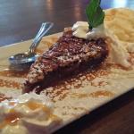 Best pecan pie serving in years. Excellent ribeye, very good service and atmosphere.