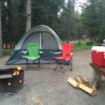 Our campsite at Tunnel Mountain!