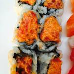 "This was supposed to be ""Spicy tuna roll"" which comes in mushed-up squares of bits."
