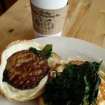 Sausage Spinach Fried Egg