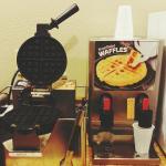 Waffle machine.