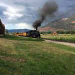 Silverton-Durango train coming by our site.