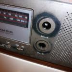 1970's clock radio with no dials