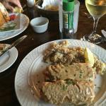 """Seafood Streudel"" [sic] & Rice Pilaf"