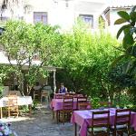 Breakfast garden at Yukser Pansiyon