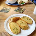 Soup and garlic bread for starters