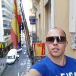 Вид с болкона на улицу San Fernando