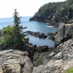 Cliff views at Quoddy Park.  We saw eagles and seals along the way!