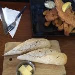 Fish and chips with side of bread - at least the bread was nice.