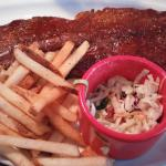 Memphis Rub rack of ribs. Comes with fries if you prefer something else please ask