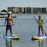 Paddleboarding on our 3 year anniversary