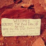 right before you arrive they encourage you to keep it up to see the best view of petra