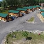 Aerial View of Premium Log Cabins