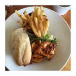 Mango chipotle chicken sandwich