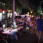 The Night Market Close to Forest City Hotel