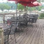 Upper deck, overlooking the Clinch River