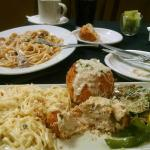 Chicken Involtini and Mushroom Beef Fettucini