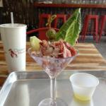 Lobster Martini with a side of Ginger Brew!
