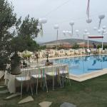 facing the pool