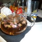Pink rosebud tea & honey
