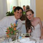 Groom and Bride at the Brick