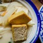 Thai-Suppe mit Kokosmilch und Tofu
