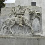 Beautiful marble carving Lewis and Clark and Sacawagea
