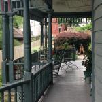 side of wrap around porch