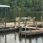 A place to dine on the dock at the restaurant