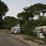 Vista de una de las calles del camping