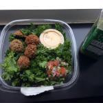 Raw falafel salad. Nice & spicy