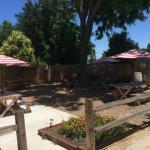 Exterior outdoor patio area
