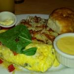 Willamette Valley Omelet, with a side of Hollandaise sauce