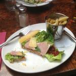Ploughman's sandwhich and caesar salad