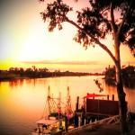 Around Burnett River sunset in July