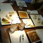 mumbai chicken curry and garlic shrimp