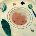 スズキのガスパッチョ 冷製スープ