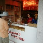 Placing our order for caramel corn with peanuts.
