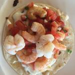 Shrimp quesadilla before I went to the salsa bar