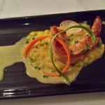 Prawn with risotto