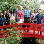 Doing Miami To The Max! at the Japanese bridge at Miami Beach Botanical Garden -