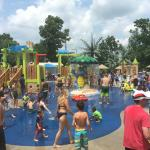 The water park is a perfect place to cool down on a hot summer day!