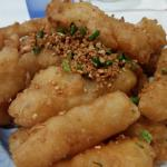 Deep fried calamari spicy garlic style