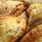 Cranberry Walnut and Bacon Cheddar scones