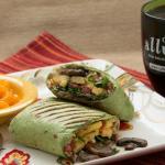 Vegetarian Sunrise Breakfast Wrap