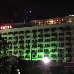 Front elevation of Sayaji Hotel and on top Glass partition wall is Mediterra restaurent..